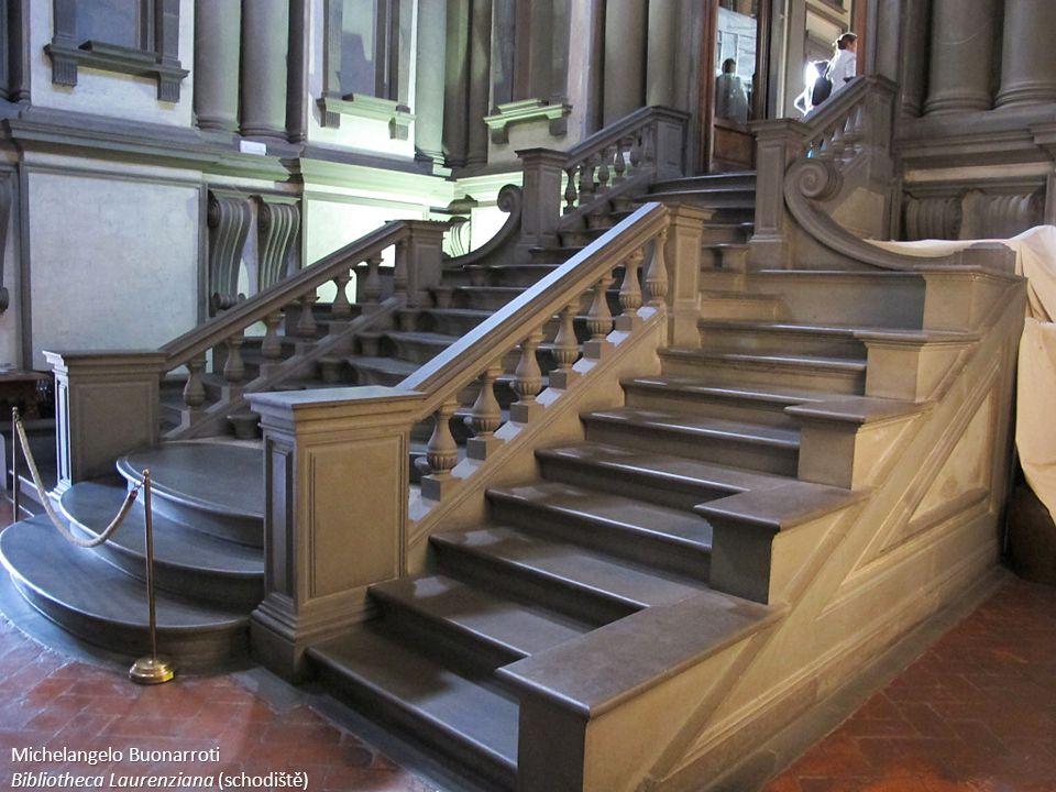 Michelangelo Buonarroti Bibliotheca Laurenziana (schodiště)