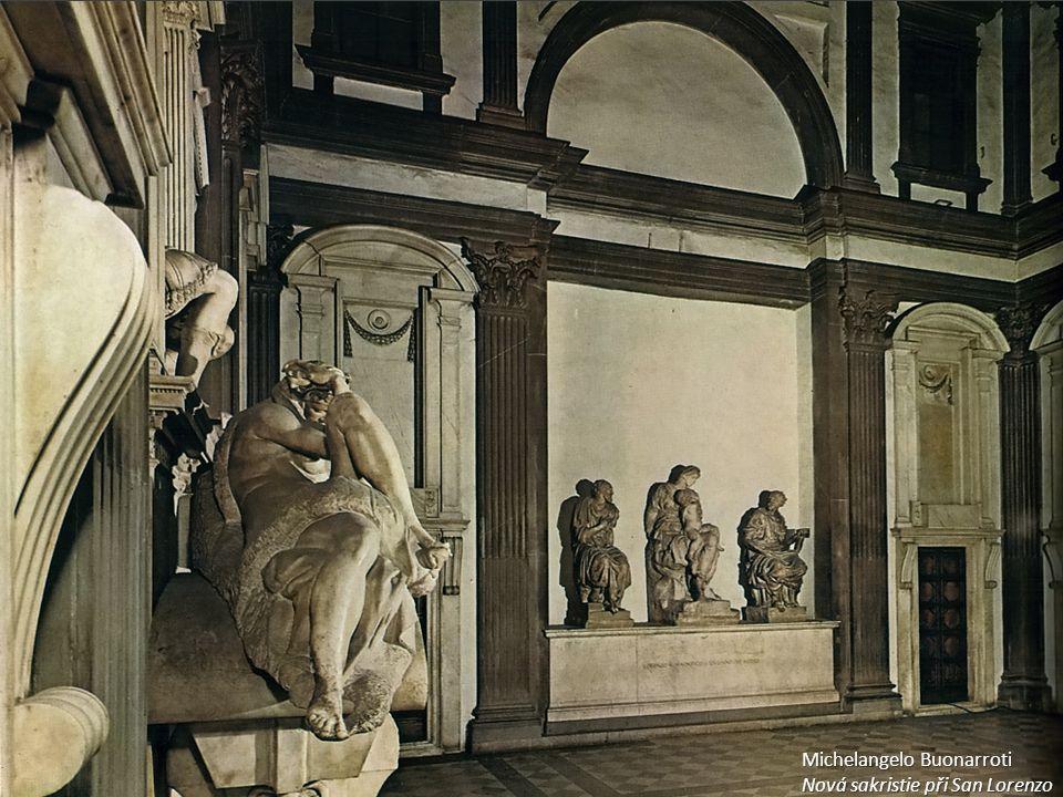 Michelangelo Buonarroti Nová sakristie při San Lorenzo