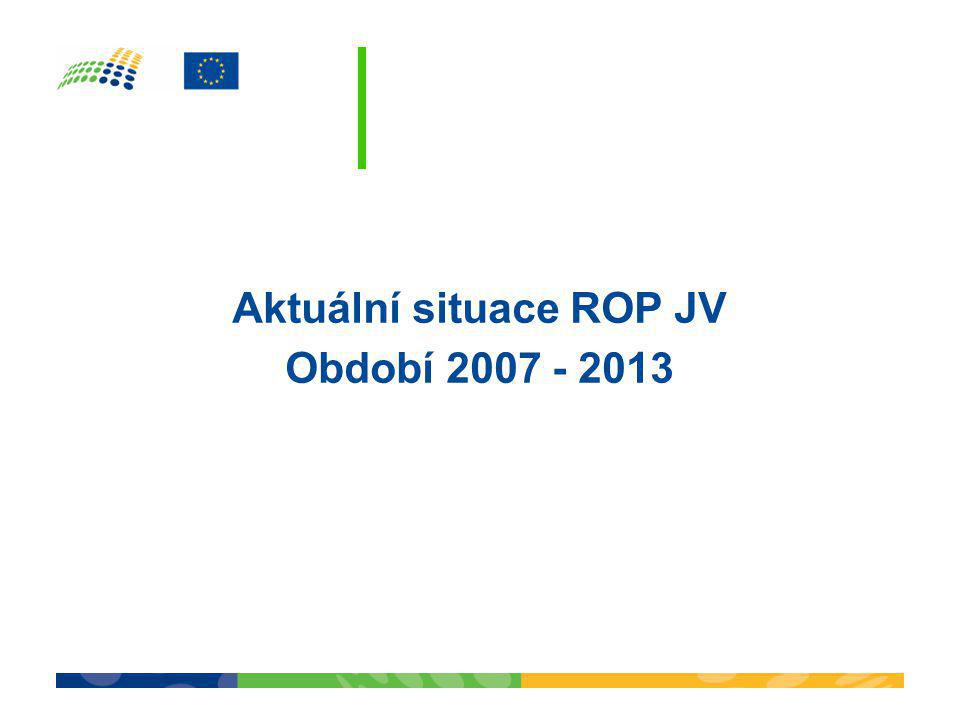 Aktuální situace ROP JV Období 2007 - 2013