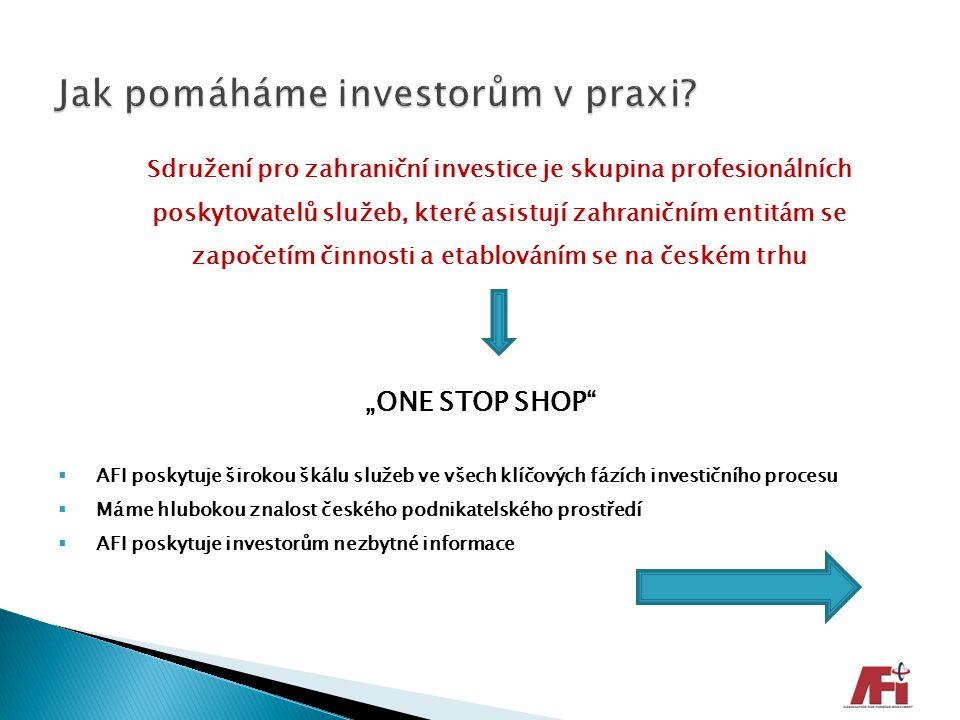 Sdružení pro zahraniční investice je skupina profesionálních poskytovatelů služeb, které asistují zahraničním entitám se započetím činnosti a etablová