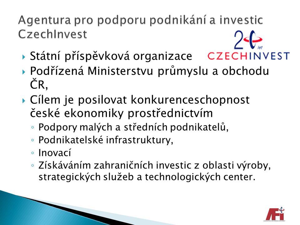  Státní příspěvková organizace  Podřízená Ministerstvu průmyslu a obchodu ČR,  Cílem je posilovat konkurenceschopnost české ekonomiky prostřednictv