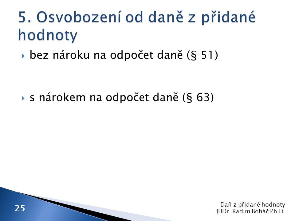 Daň z přidané hodnoty JUDr. Radim Boháč Ph.D.