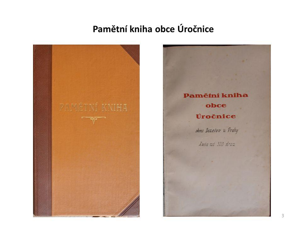 3 Pamětní kniha obce Úročnice