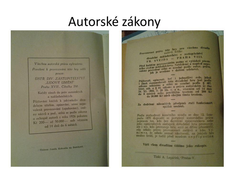 Autorské zákony 34
