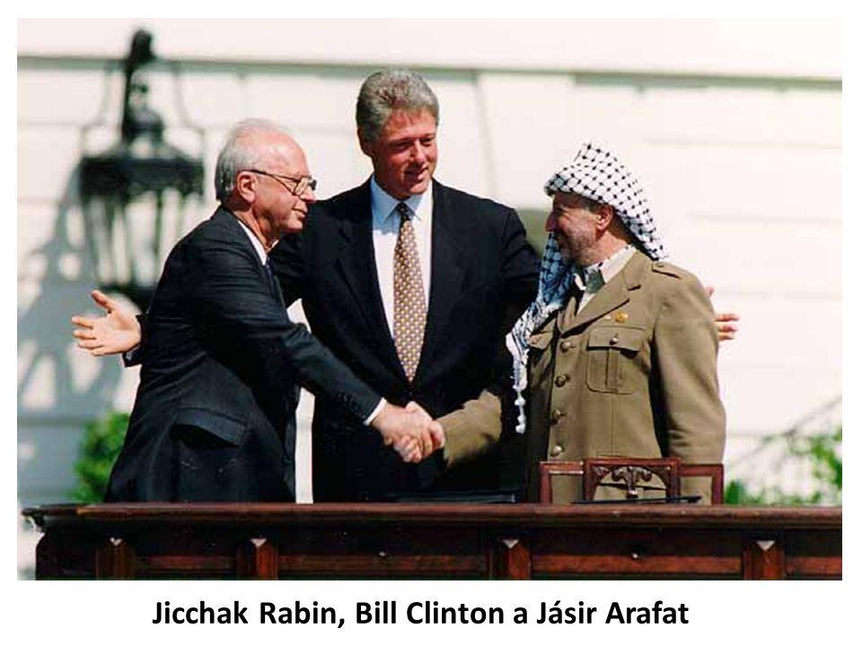 • Vlna odporu proti dohodám z Oslo – jak ze strany radikálních Palestinců, tak izraelské pravice • Premiér Jicchak Rabin zastřelen 4.