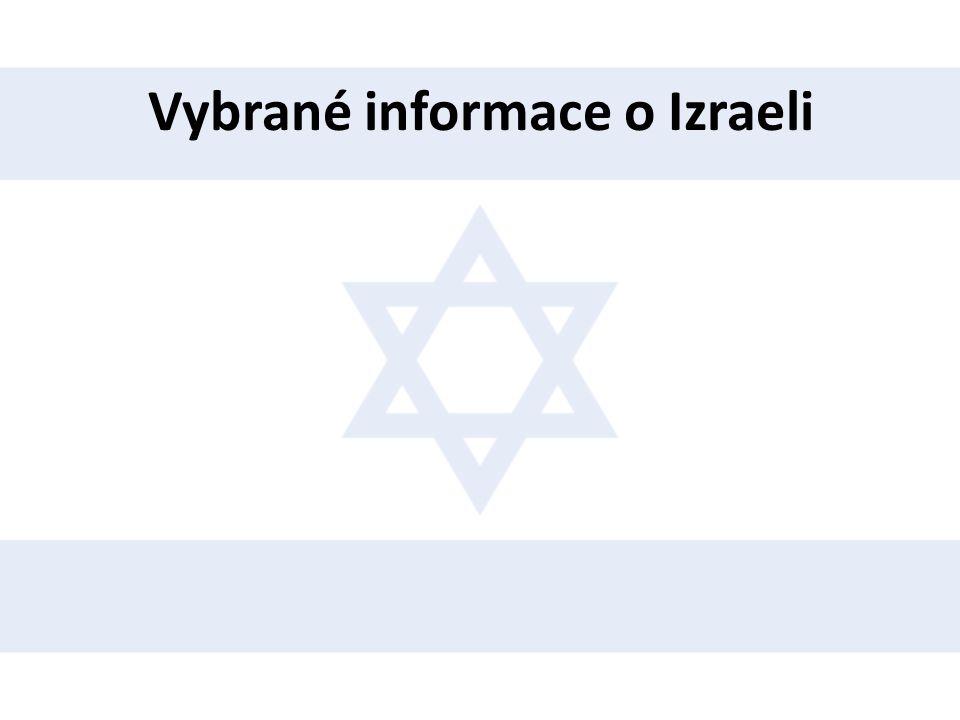 Vybrané informace o Izraeli