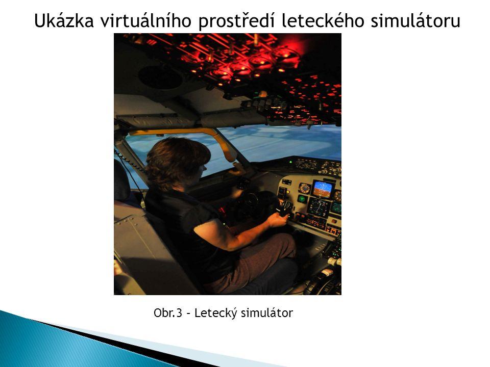 Ukázka virtuálního prostředí leteckého simulátoru Obr.3 – Letecký simulátor