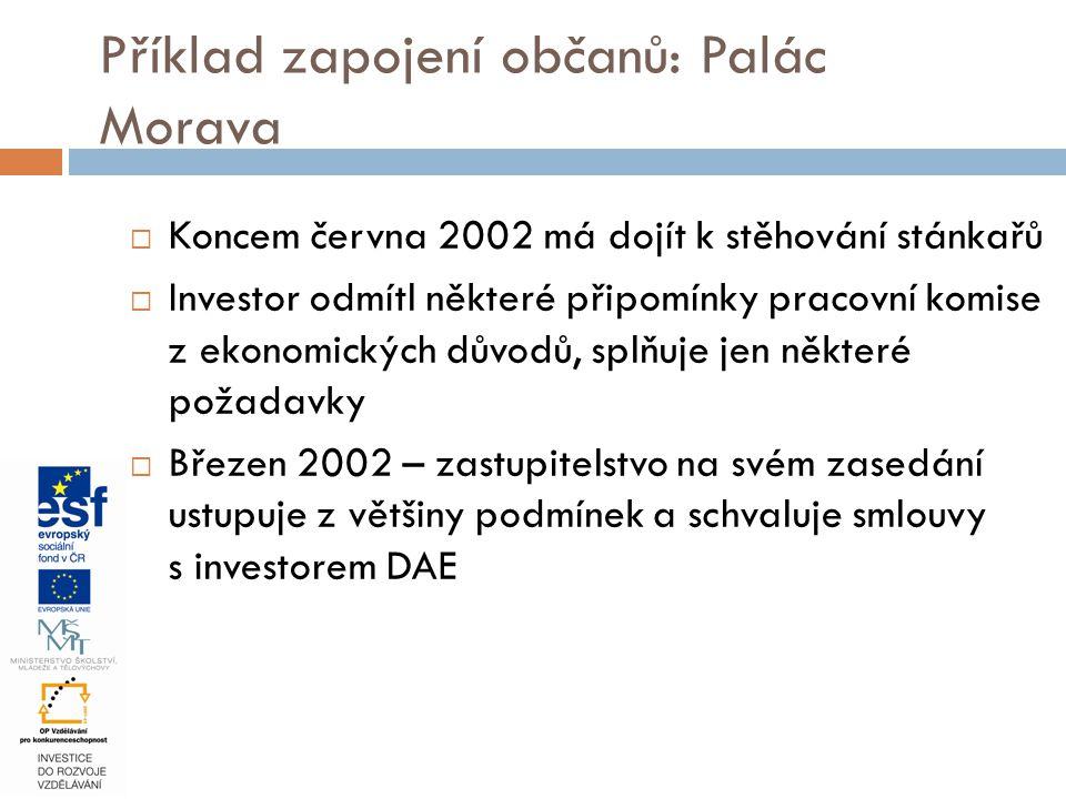  Koncem června 2002 má dojít k stěhování stánkařů  Investor odmítl některé připomínky pracovní komise z ekonomických důvodů, splňuje jen některé pož