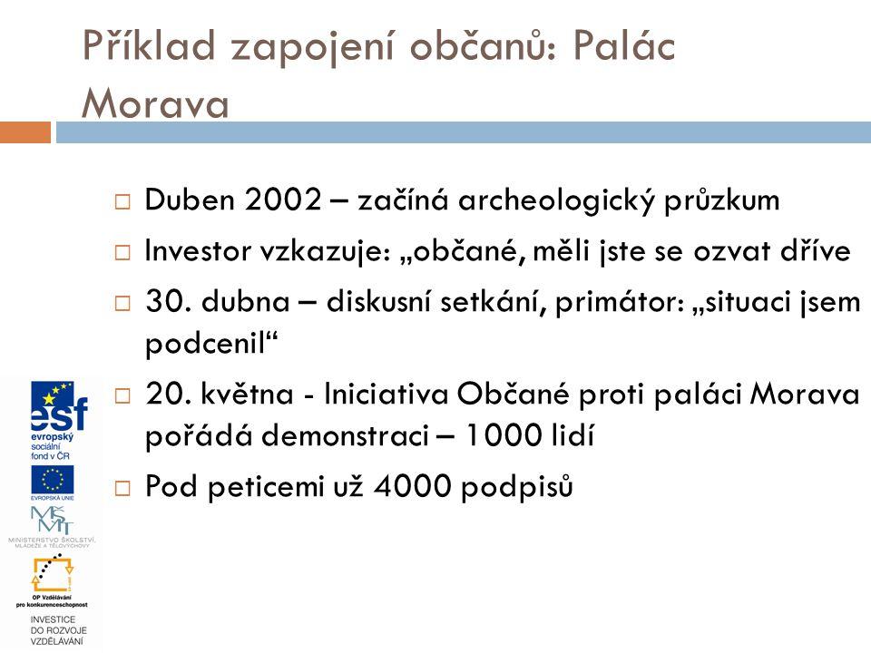 """ Duben 2002 – začíná archeologický průzkum  Investor vzkazuje: """"občané, měli jste se ozvat dříve  30. dubna – diskusní setkání, primátor: """"situaci"""