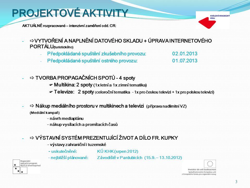 FAM / PRESS TRIPY 4  zrealizovány 2 tripy (fam/press) pro ruské touroperátory a novináře ZIMA (03/2012) a LÉTO (08/2012) (Prezentační aktivity zacílené na polskou, německou a ruskou klientelu) - šestidenní pracovní tripy pro ruské touroperátory a novináře - TERMÍNY tripů:  zimní 11.03.-18.03.2012   letní 12.08.-19.08.2012  VÝSTUPY:   povinnost účastníků prezentace v domovině (web, tisk, televizní media apod.)   2 dílčí zprávy (zimní, letní) + závěrečná zpráva (povinnost pro organizátora tripů)