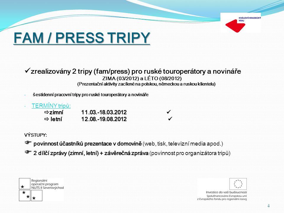 FAM / PRESS TRIPY OTÁZKY: 1.Máme ruské klientele co nabídnout.