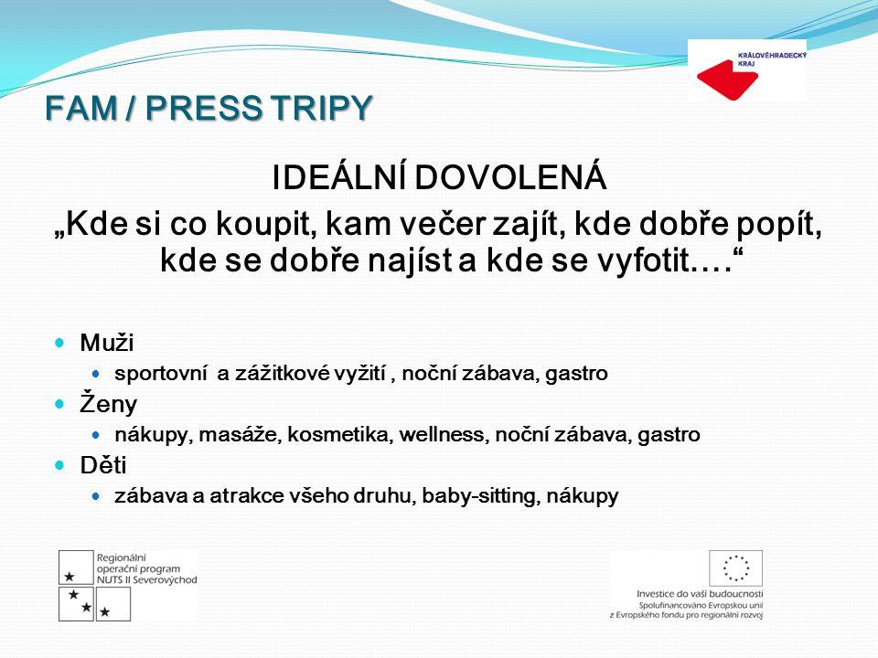 FAM / PRESS TRIPY ZIMNÍ TRIP 11.3.– 18.3.2012 LETNÍ TRIP 12.8.