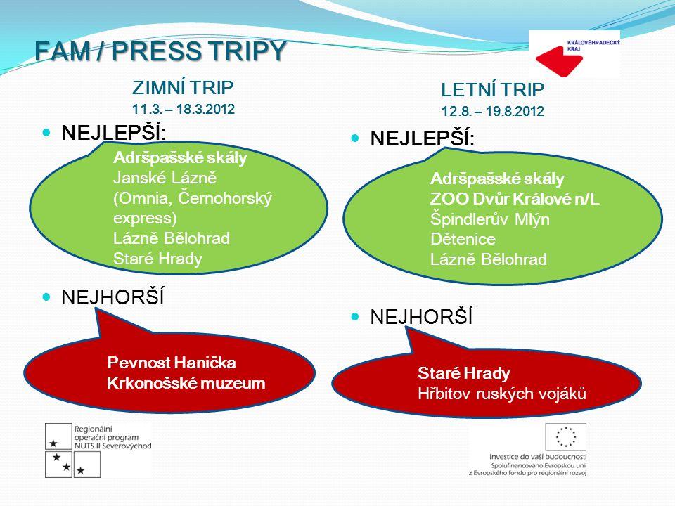 FAM / PRESS TRIPY ZIMNÍ TRIP 11.3. – 18.3.2012 LETNÍ TRIP 12.8.