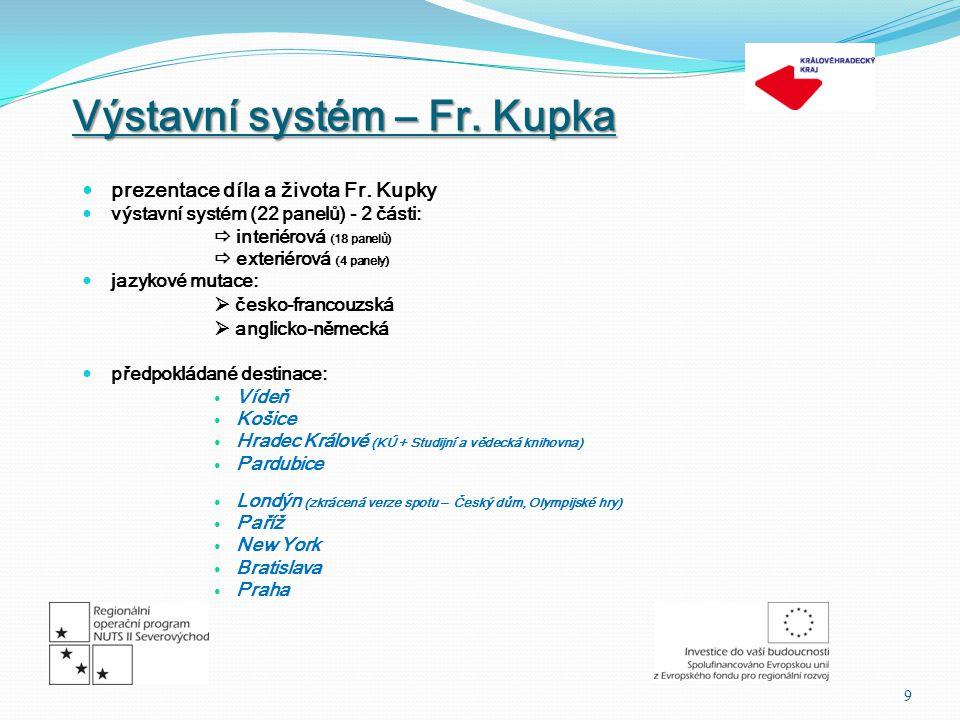 Výstavní systém – Fr. Kupka  prezentace díla a života Fr.