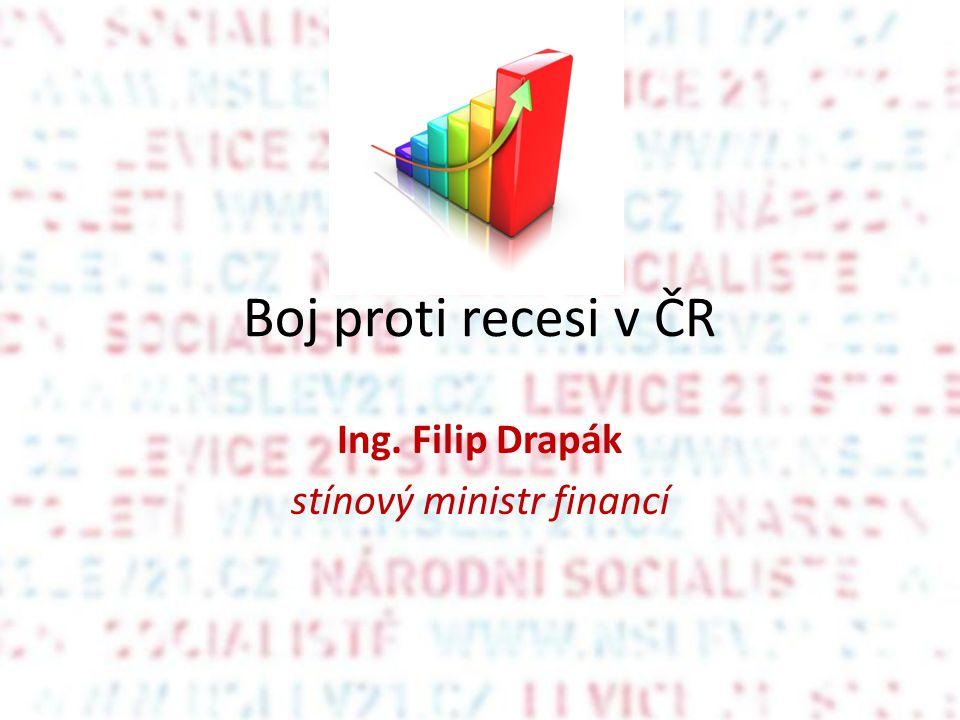 Boj proti recesi v ČR Ing. Filip Drapák stínový ministr financí