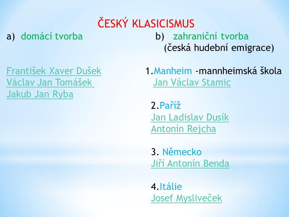 """Český hudební """"klasicismus"""