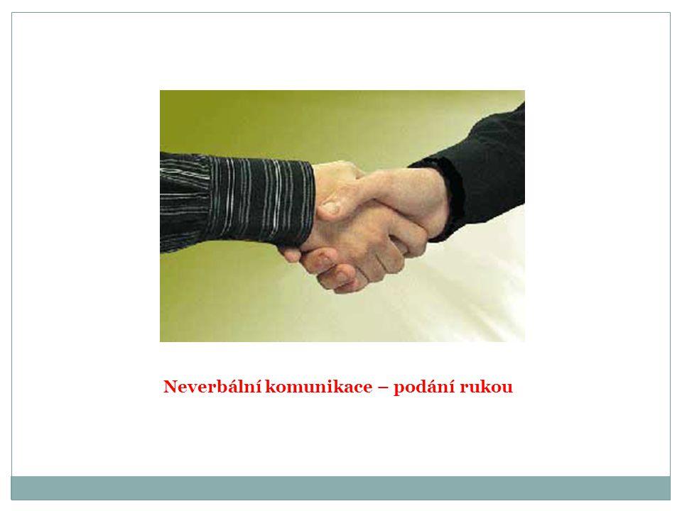 Neverbální komunikace – podání rukou