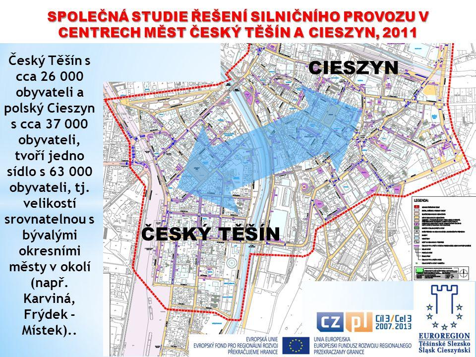 CIESZYN Český Těšín s cca 26 000 obyvateli a polský Cieszyn s cca 37 000 obyvateli, tvoří jedno sídlo s 63 000 obyvateli, tj. velikostí srovnatelnou s