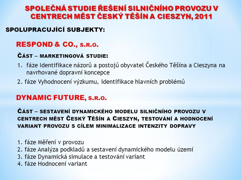 SPOLEČNÁ STUDIE ŘEŠENÍ SILNIČNÍHO PROVOZU V CENTRECH MĚST ČESKÝ TĚŠÍN A CIESZYN, 2011 DYNAMIC FUTURE, S. R. O. RESPOND & CO., S. R. O. Č ÁST – MARKETI
