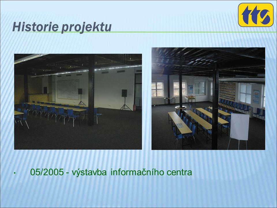 Historie projektu • 05/2005 - výstavba informačního centra
