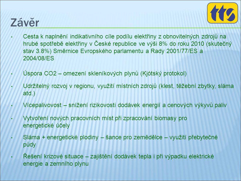 Závěr • Cesta k naplnění indikativního cíle podílu elektřiny z obnovitelných zdrojů na hrubé spotřebě elektřiny v České republice ve výši 8% do roku 2