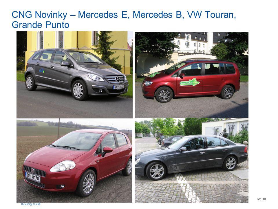 RWE Transgasstr. 18 CNG Novinky – Mercedes E, Mercedes B, VW Touran, Grande Punto