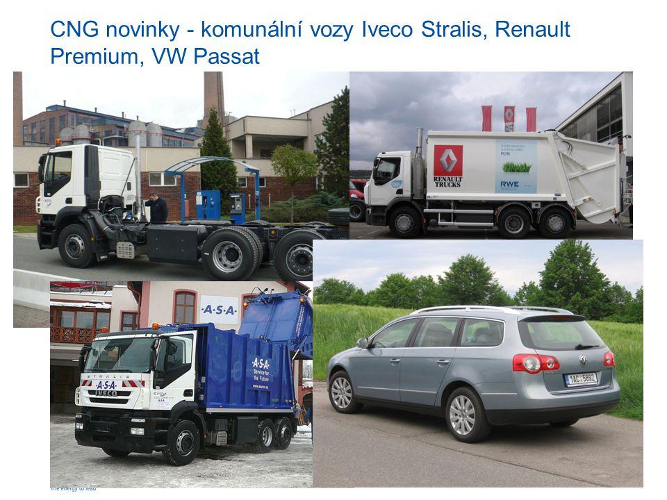 RWE Transgasstr. 20 CNG novinky - komunální vozy Iveco Stralis, Renault Premium, VW Passat