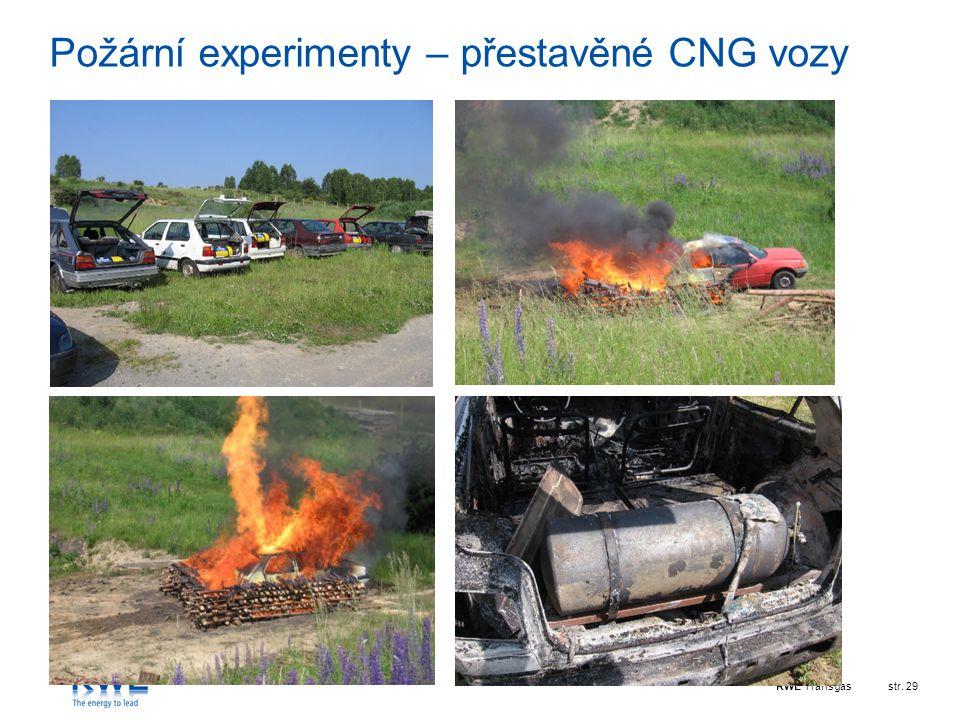 RWE Transgasstr. 29 Požární experimenty – přestavěné CNG vozy