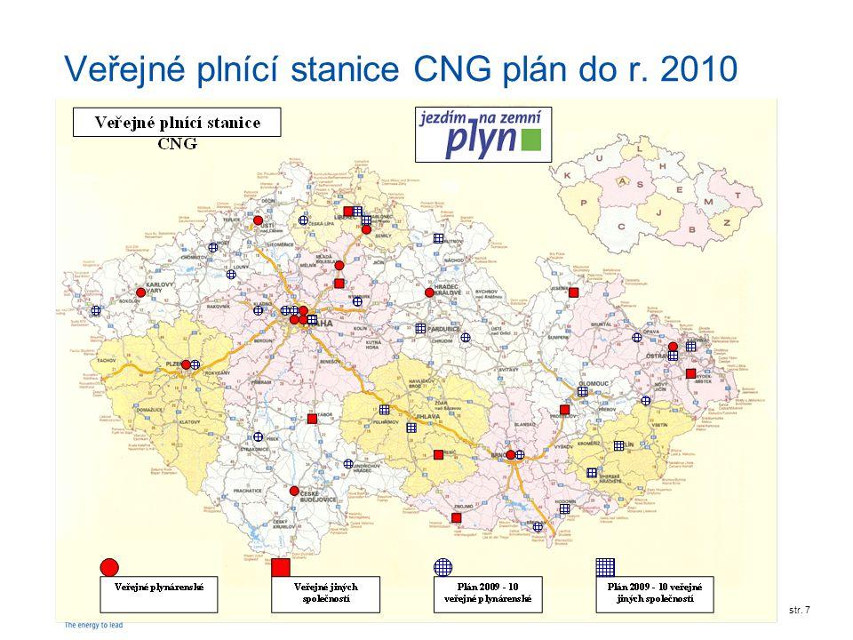RWE Transgasstr. 7 Veřejné plnící stanice CNG plán do r. 2010