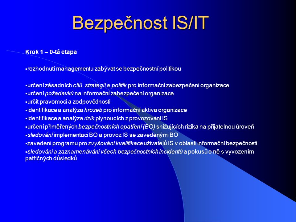Bezpečnost IS/IT 1.