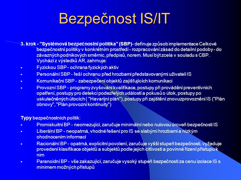 Bezpečnost IS/IT 4.