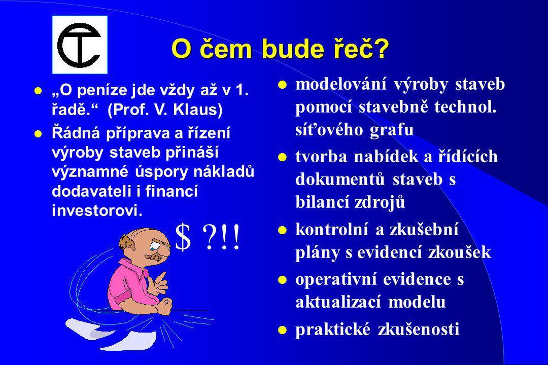 K modelování realizace výstavby na počítači Doc. Ing. Čeněk Jarský, DrSc. CONTEC Kralupy n. Vlt. Česká republika http://www.contec.cz Fakulta stavební