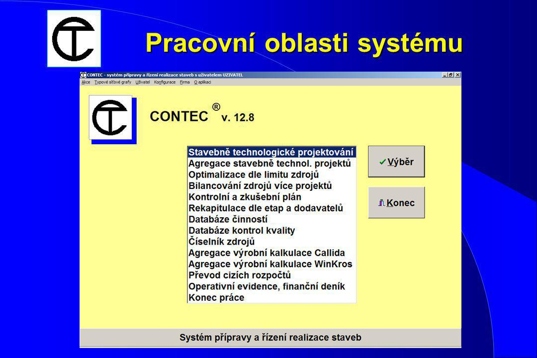 CONTEC - expertní systém pro plánování a řízení realizace staveb l vlastního procesu výstavby l procesu údržby v pravidelných časových intervalech l r