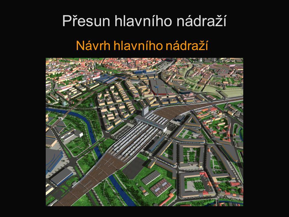Přesun hlavního nádraží Návrh hlavního nádraží
