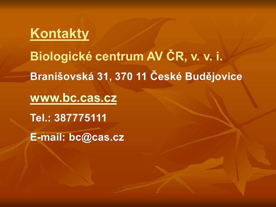 Kontakty Biologické centrum AV ČR, v. v. i.