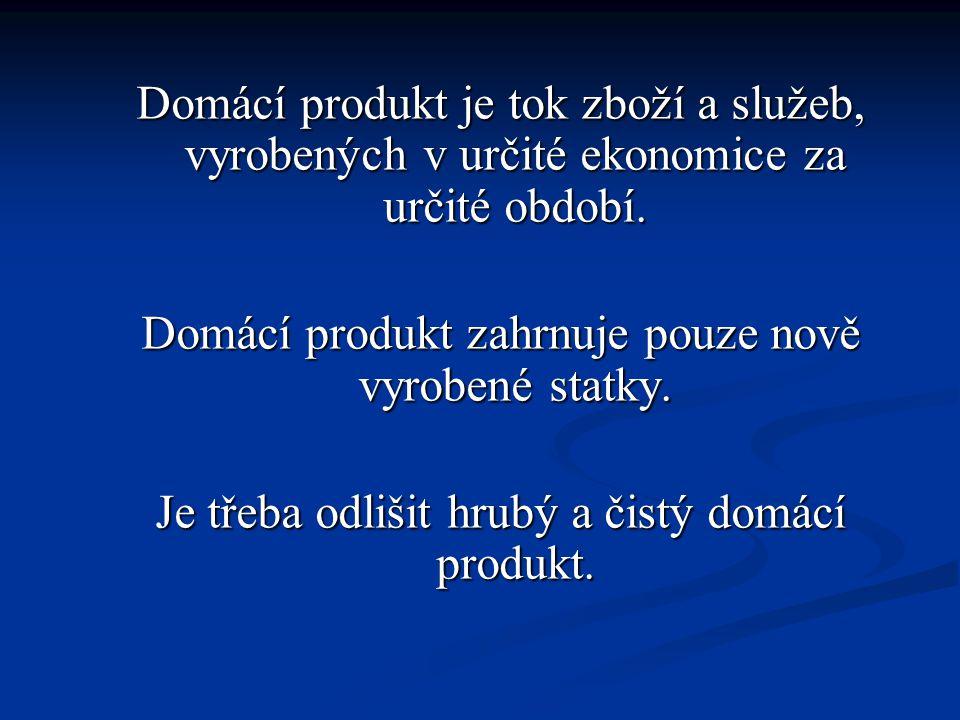 Rozdíl mezi hrubým a čistým domácím produktem představuje opotřebení.