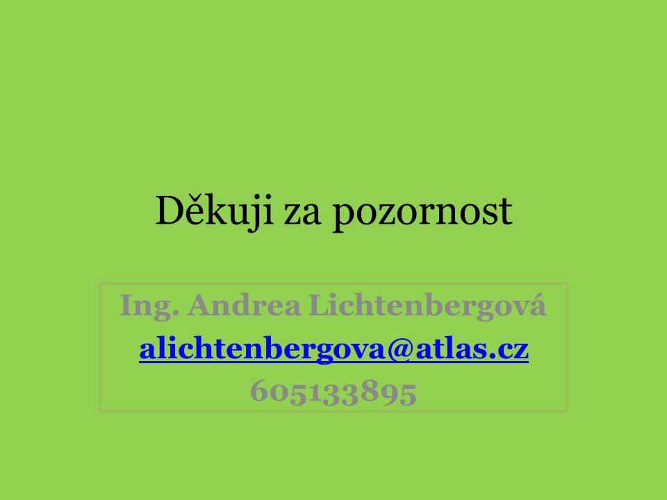 Děkuji za pozornost Ing. Andrea Lichtenbergová alichtenbergova@atlas.cz 605133895