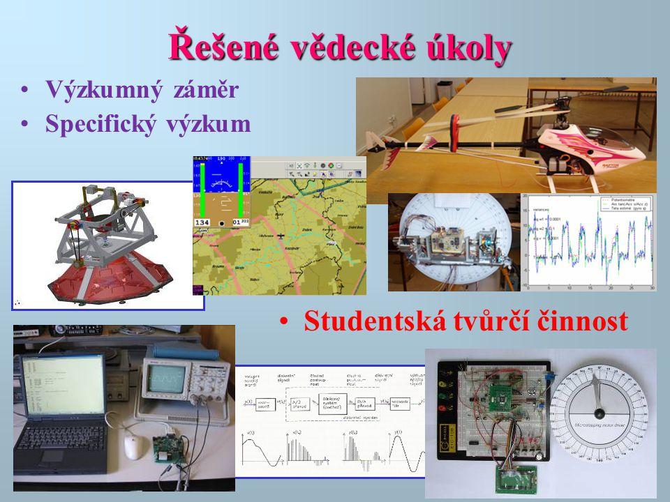Řešenévědecké úkoly Řešené vědecké úkoly •Výzkumný záměr •Specifický výzkum •Studentská tvůrčí činnost