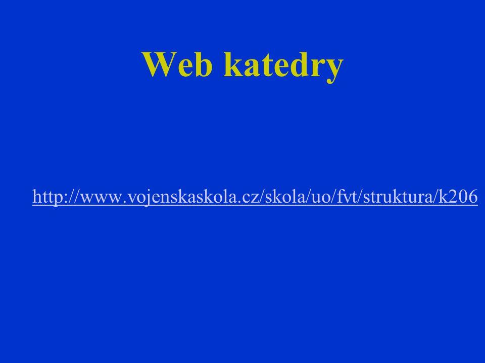 Web katedry http://www.vojenskaskola.cz/skola/uo/fvt/struktura/k206