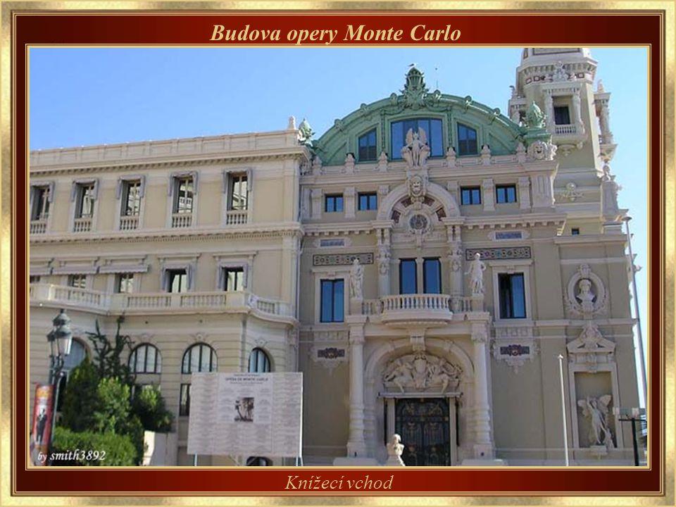 Budova opery Monte Carlo Koncipoval rovněž Charles Garnier