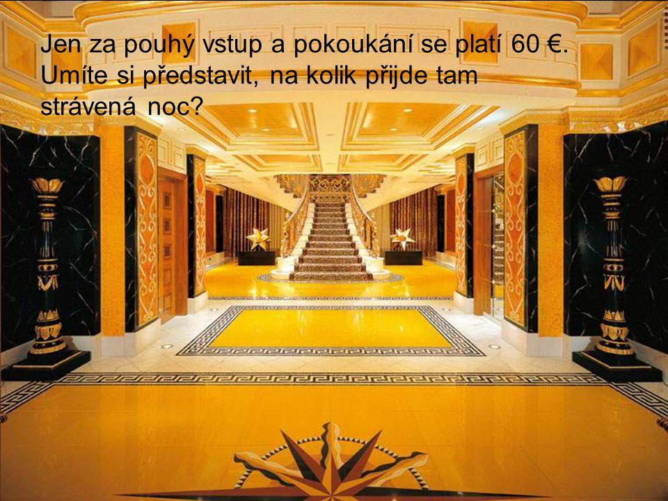Jen za pouhý vstup a pokoukání se platí 60 €. Umíte si představit, na kolik přijde tam strávená noc?