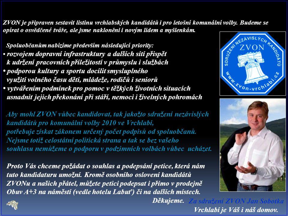 ZVON je připraven sestavit listinu vrchlabských kandidátů i pro letošní komunální volby.
