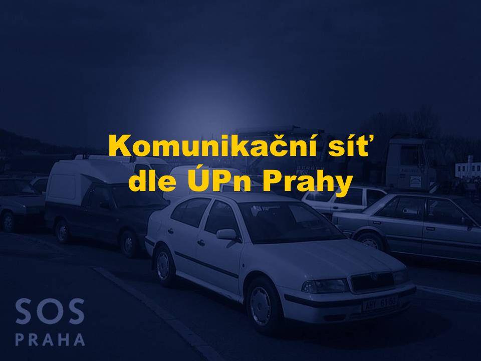 Komunikační síť dle ÚPn Prahy