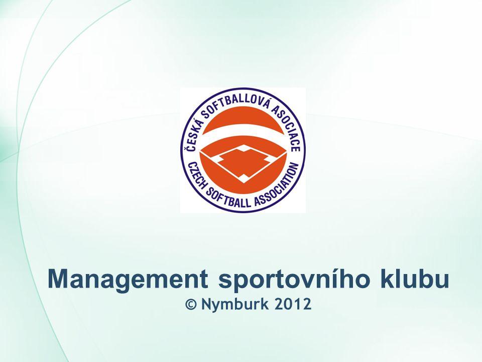 Management sportovního klubu © Nymburk 2012