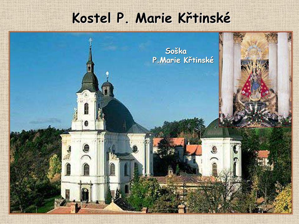 Poutní kostel Panny Marie ve Křtinách byl d alším, často navštěvovaným poutním místem našich občanů.