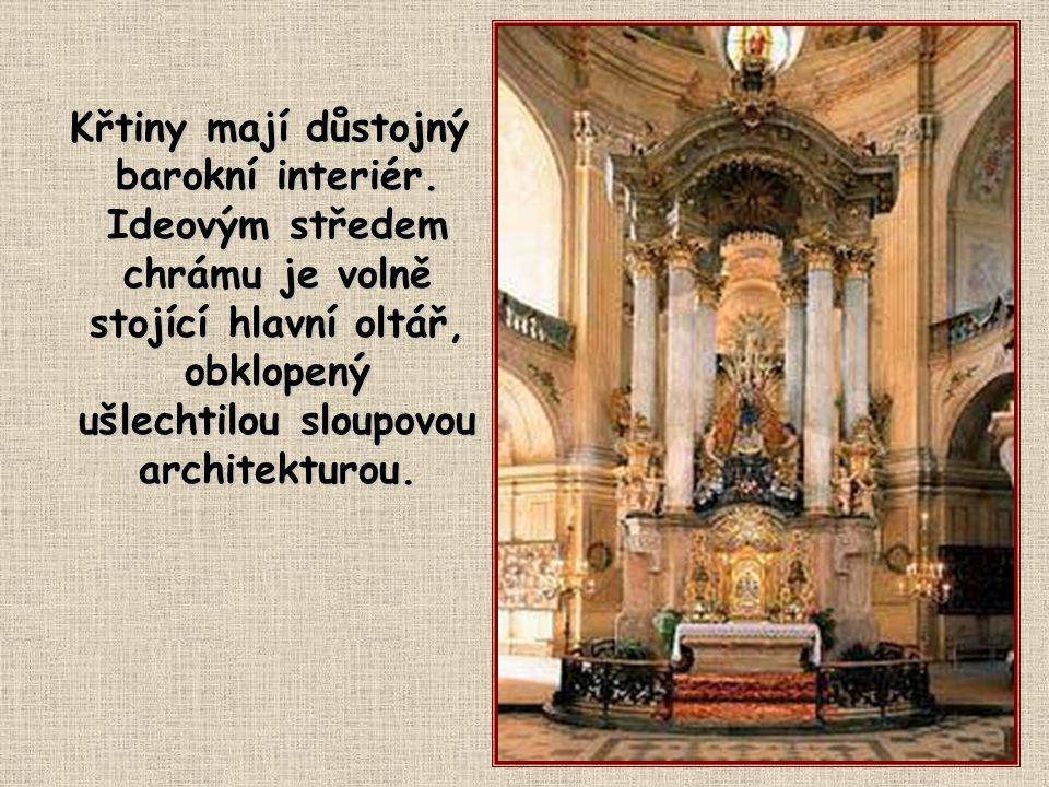 """Kostel Panny Marie Křtinské V nynější podobě tento barokní skvost, označovaný jako """"Perla Moravy"""", patří k Santiniho vrcholným dílům a našim nejstarší"""