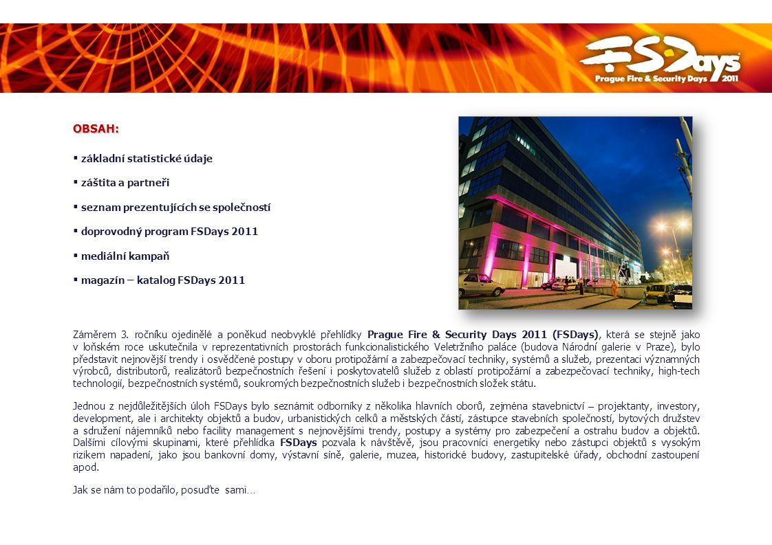 ZÁKLADNÍ STATISTICKÉ ÚDAJE Název:Prague Fire & Security Days 2011 (FSDays) Termín konání:20.