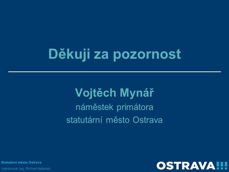 Děkuji za pozornost Vojtěch Mynář náměstek primátora statutární město Ostrava