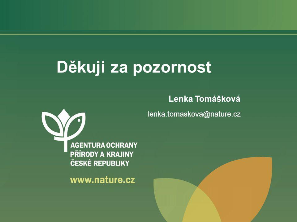 Děkuji za pozornost Lenka Tomášková lenka.tomaskova@nature.cz