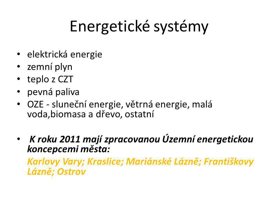 Elektrická energie • Na území Karlovarského kraje je respektována koncepce rozvoje stávající elektrizační soustavy zásobující území elektrickou energií prostřednictvím distribuční sítí 110kV.